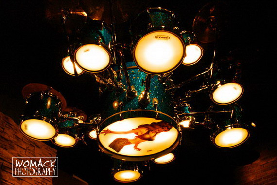 Drum Kit Light Fixture At Rainbow Bar And Grill Las Vegas